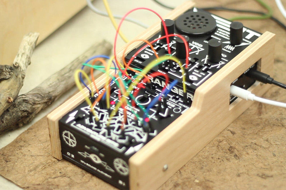 bitRanger, a weird handheld modular synth crammed with over 100 patch points
