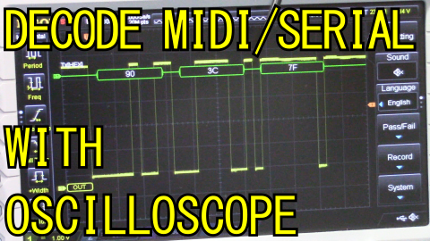 MIDI serial oscilloscope